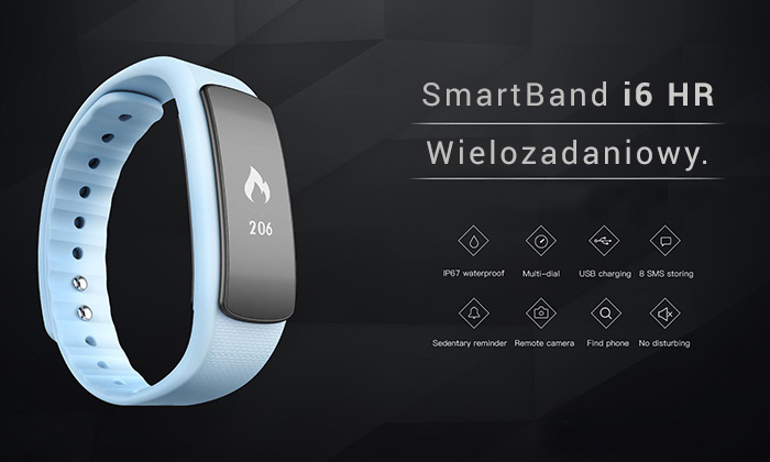 iWOWN I6HR – tani smartband do ćwiczeń