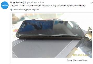 Wybuchająca bateria w iPhonie 8 Plus