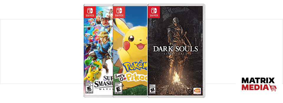 Okładki gier na Nintendo Switch